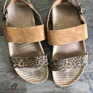 Volcolm leopard sandals.